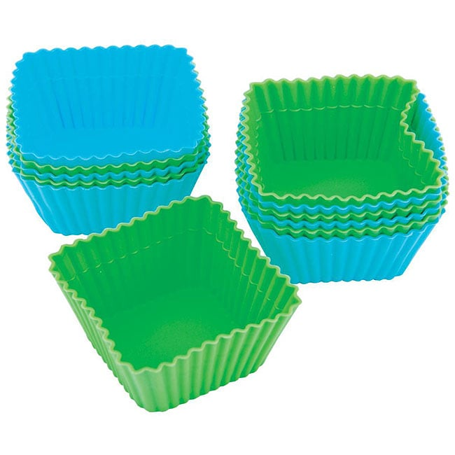Silicone 'Square' Baking Cups (Pack of 12)
