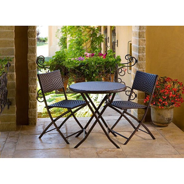 rst cantina bistro 3 piece folding dining set 12369987 overstock