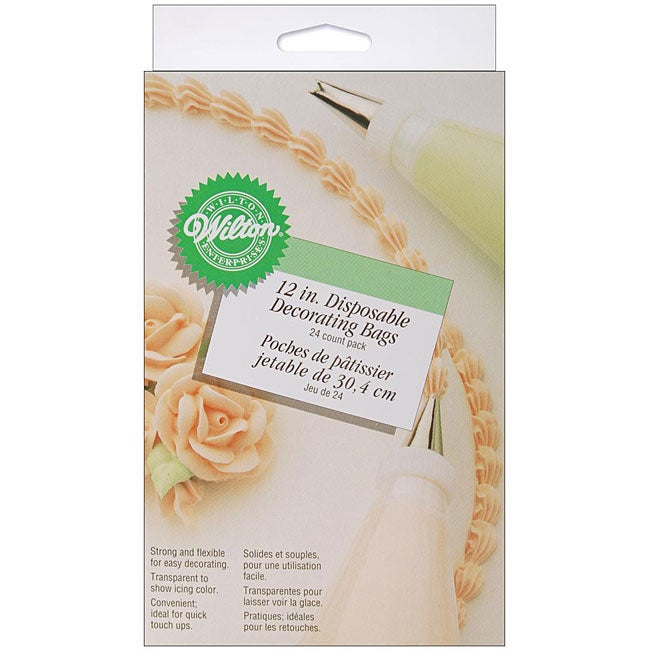 Wilton Cake Decorating Icing Bags : Wilton Disposable Decorating Bags (Pack of 24) - Overstock ...