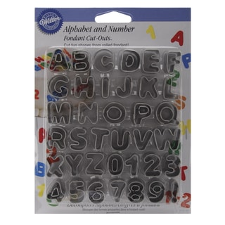Wilton Fondant 'Alphabet and Numbers' Cut-Outs (Pack of 37)