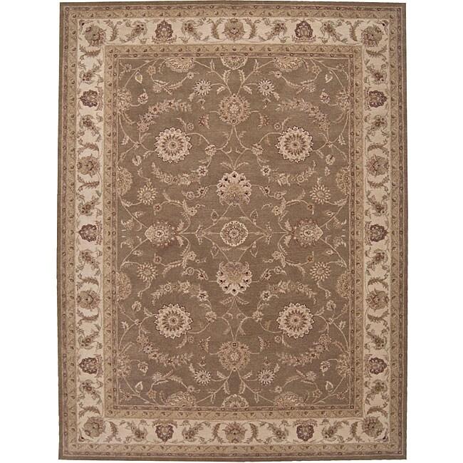 Nourison Hand-tufted Heriatge Hall Olive Wool Rug (12' x 15')