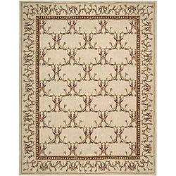 Nourison Hand-tufted Lisette Ivory Wool Rug (8' x 10'6)