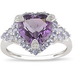 Miadora 10k Gold Amethyst and Tanzanite Ring