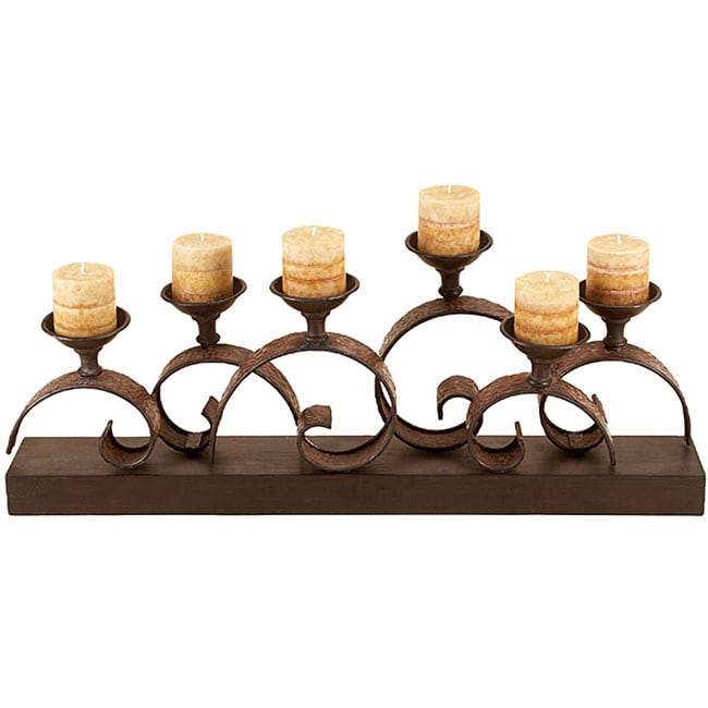 Tabletop Deluxe Metal Candle Holder