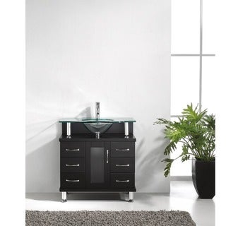 Virtu USA Vincente 32-inch Single Sink Bathroom Vanity Set