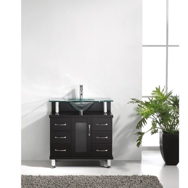 Virtu USA Vincente 32-inch Single Sink Bathroom Vanity Set