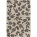 Hand-tufted Beige Wool Trailing Vines Rug (5' x 8')