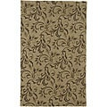 Hand-tufted Passion Green Wool Rug (9' x 13')