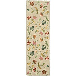 Hand-tufted Spring Gardens New Zealand Wool Rug (2'6 x 8')