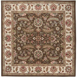 Hand-tufted Coliseum Brown Rug (8' Square)
