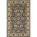 Hand-tufted ColiseumGray Traditional Border Wool Rug (8' Square)