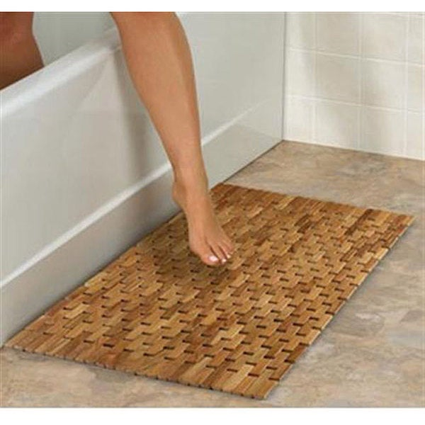 Pollenex by Conair Flexible Teak Shower Mat