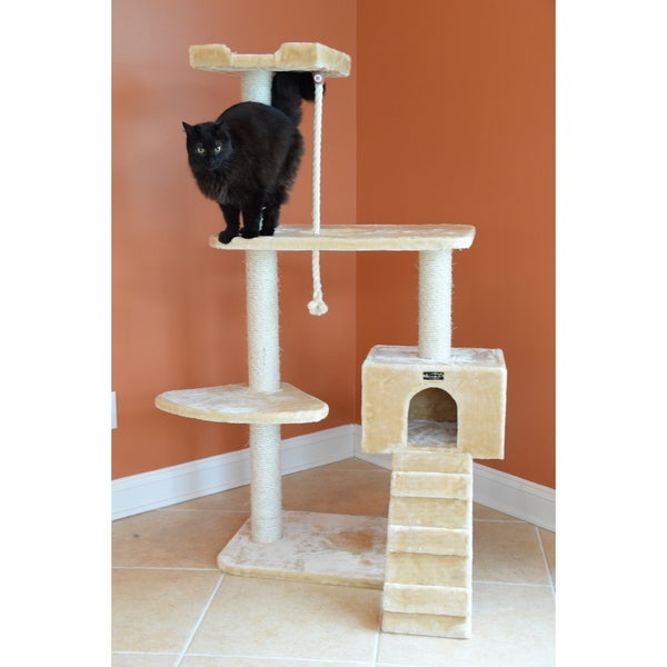 58-Inch Armarkat Cat Tree Pet Furniture Condo Scratcher