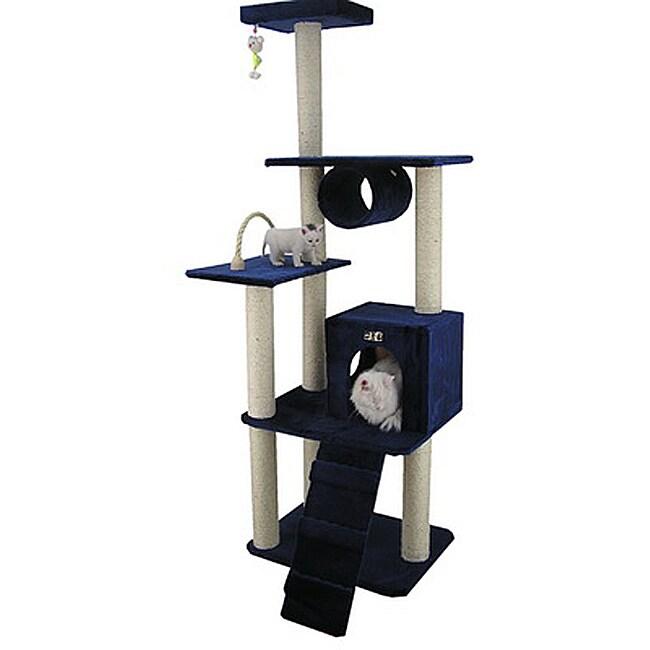 Armarkat Navy Blue Cat Tree Pet Furniture Condo