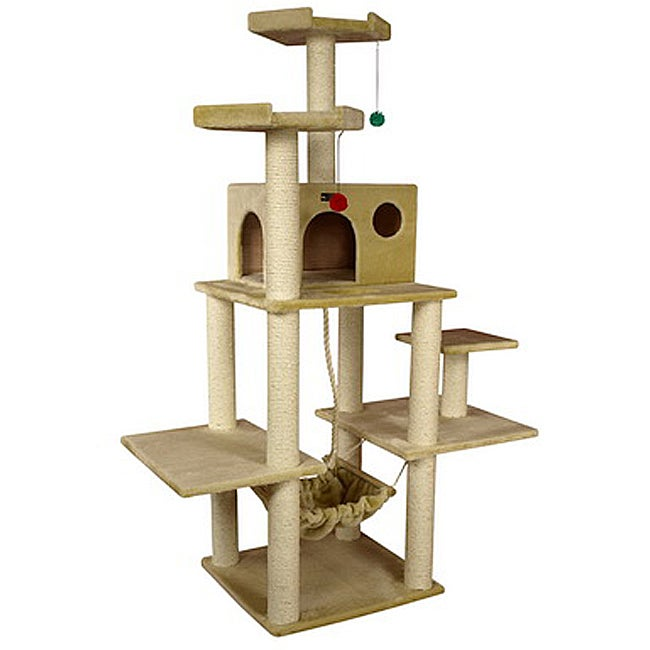 Armarkat Cat Jungle Gym Pet Furniture Beige Condo Scratcher