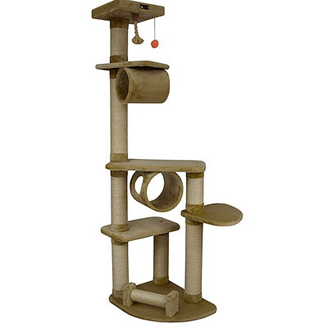 Armarkat Cat Jungle Gym Pet Furniture Condo Scratcher with Faux Fur