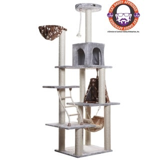 Stylish Armarkat Blue Cat Tree Scratcher with 2 Condos