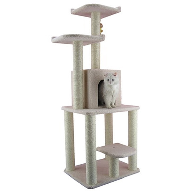 Armarkat Ivory Faux Fleece 62-inch Cat Tree House Condo Furniture at Sears.com