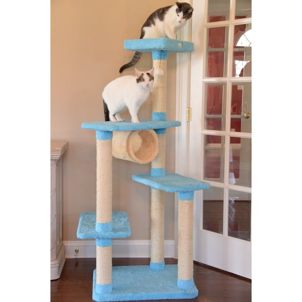 Armarkat Premium Sky-Blue Cat Condo Pet Furniture