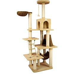 Armarkat Premium Cat Condo Faux-Fleece-Covered Pet Furniture