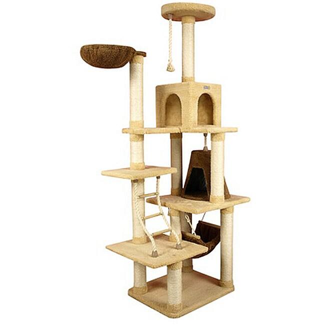 Armarkat Premium Cat Condo Faux-Fleece-Covered Pet Furniture