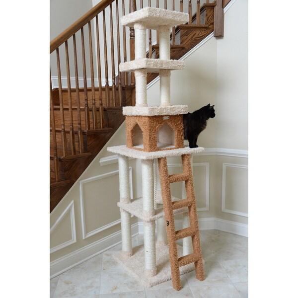 Armarkat Premium Cat Condo Faux-Fur-Covered Pet Furniture