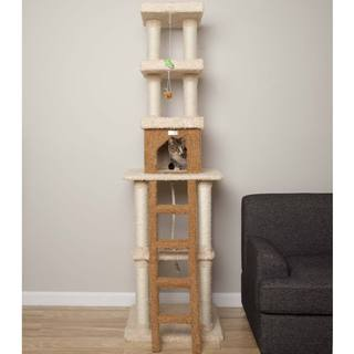 Armarkat Premium Cat Condo Faux-Fur-Covered Pet Furniture