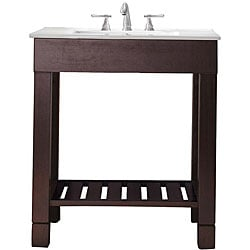 Avanity Loft 30-inch Single Vanity in Dark Walnut Finish with Sink and Top