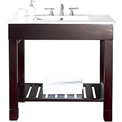 Avanity Loft 48-inch Single Vanity in Dark Walnut Finish with Sink and Top