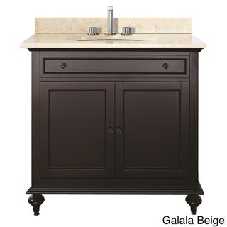 Avanity Merlot 30-inch Single Vanity in Espresso Finish with Sink and Top