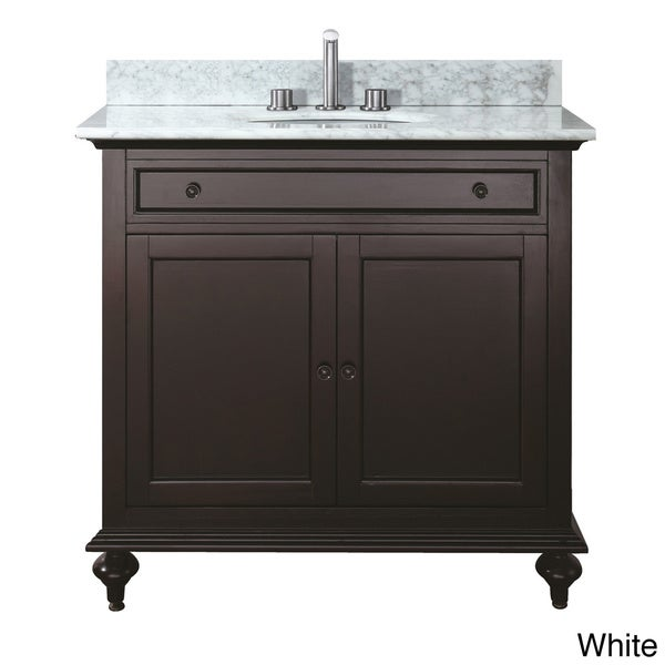 Avanity Merlot 36-inch Single Vanity in Espresso Finish with Sink and Top