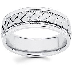 hand braid mens wedding ring