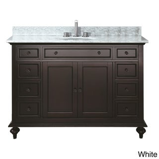 Avanity Merlot 48-inch Single Vanity in Espresso Finish with Sink and Top