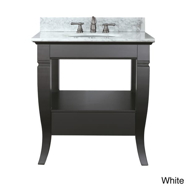 Avanity Milano 30 Inch Single Vanity In Black Finish With Sink And Top 12375036 Overstock