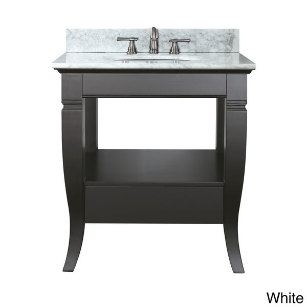 Avanity Milano 30 Inch Single Vanity In Black Finish With Sink And Top 1237