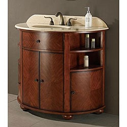 Avanity Oxford 38-inch Single Vanity in Dark Oak Finish with Sink and Top