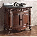Avanity Provence 36-inch Single Vanity in Antique Cherry Finish with Sink and Top