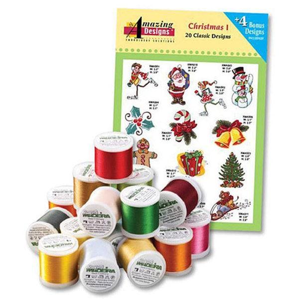 Amazing Designs' Christmas I Madeira 18-spool Thread Kit