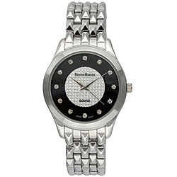 Steve Harvey Men's Silver Round Bracelet Watch