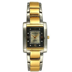 Steve Harvey Men's Two-tone Black Dial Watch