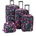 Rockland Deluxe Peace 4-piece Expandable Luggage Set