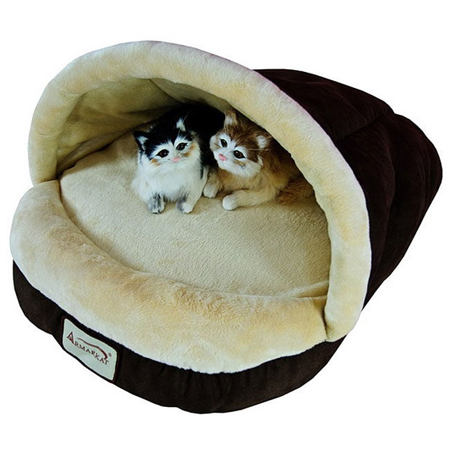 Armarkat Slipper-shaped Mocha Pet Bed