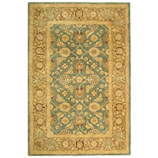 Safavieh Handmade Legacy Blue/ Brown Wool Rug (9' x 12')