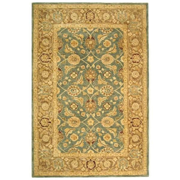 Safavieh Handmade Anatolia Legacy Teal Blue/ Taupe Wool Rug (9' x 12')