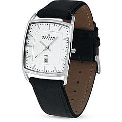 Skagen Men's 243LSLC Classic Black Leather Watch