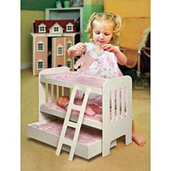 Badger Basket Co Doll Trundle Bunk Beds with Ladder