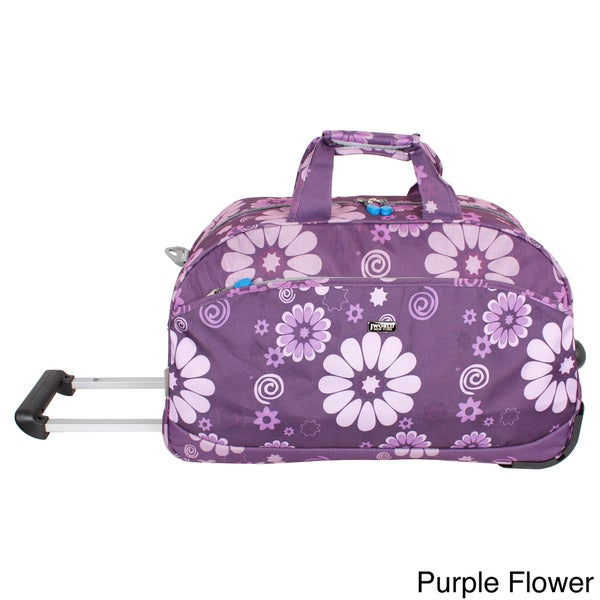 J World 'Christy' 20-inch Double Handle Carry On Rolling Upright Duffel Bag