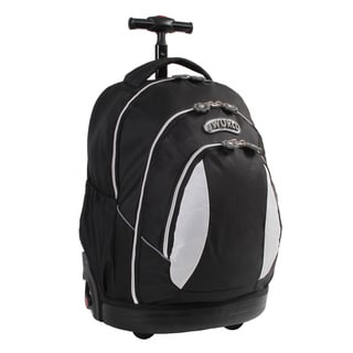 J World Kid's Black Rolling Ergonomic Backpack