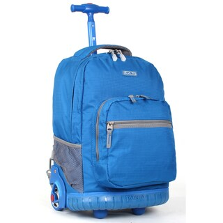 J World 'Sunrise' Blue 18-inch Rolling Backpack
