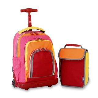 J World 'Lollipop' 16-inch Kid's Rolling Backpack and Lunchbag